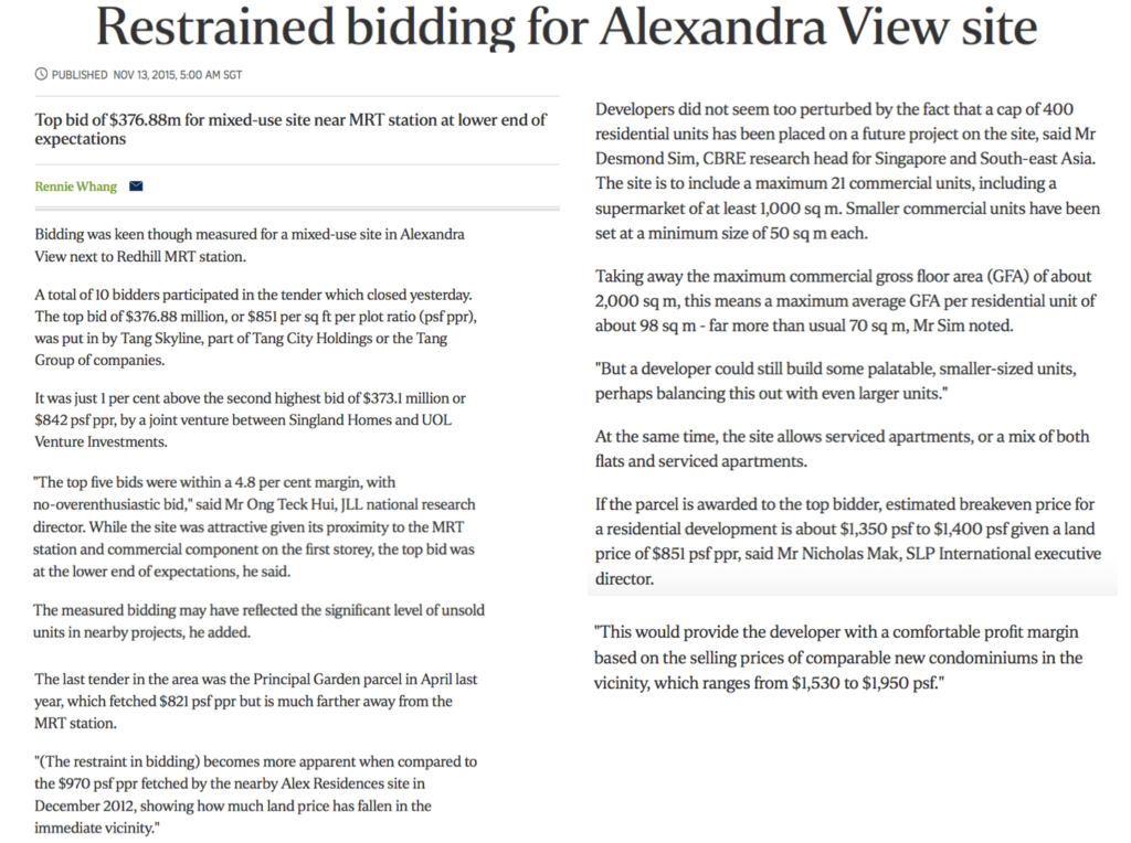 Alexandra View Tang Skyline